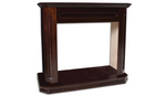 Dark walnut mantel